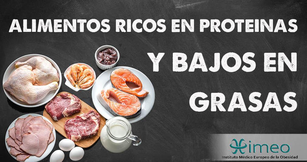 Alimentos Ricos En Proteínas Y Bajos En Calorías El Blog De La Obesidad
